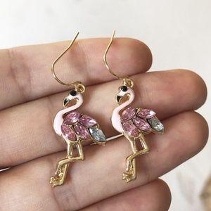 New Pink Flamingo Earrings